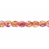 Fire polished 4mm Crystal/orange/fuchsia Two-tone Aurora Borealis